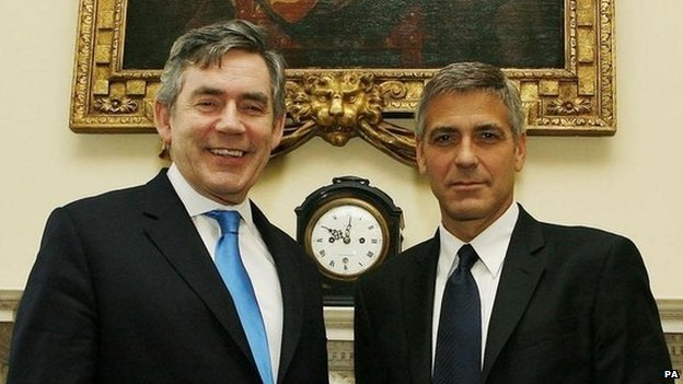George Clooney should play Nick Clegg on TV, says wife Miriam _78769999_78769998