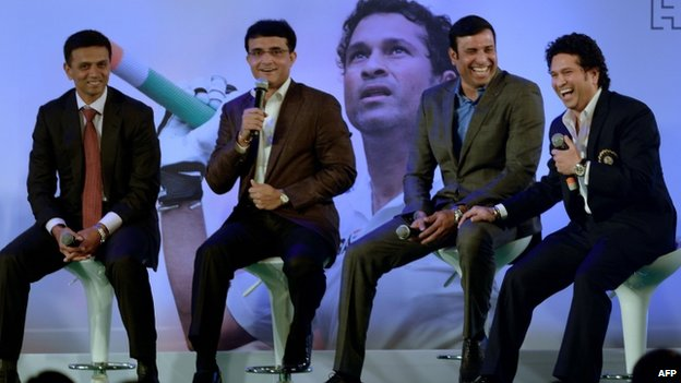 (From L to R) Dravid, Ganguly, Laxman and Tendulkar were the backbone of the India batting line-up for years