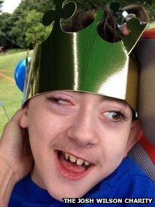 Josh in paper crown