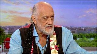 BBC News - Mick Fleetwood on never playing the same way twice