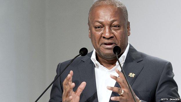 Ghanaian President Dramani Mahama