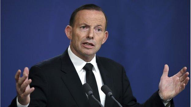 Australian Prime Minister Tony Abbott speaks during a press conference in Sydney, Australia, 5 November 2014.