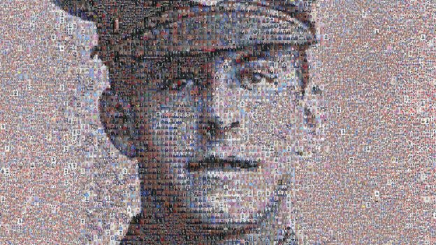 Mosaic of Private James Beaney