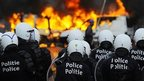 VIDEO: Riots over Belgium austerity plans