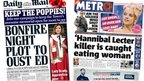 Miliband 'plot' and Tower poppies - the papers