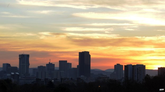 Pretoria skyline at sunset