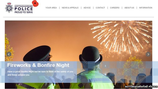 Nottinghamshire police website