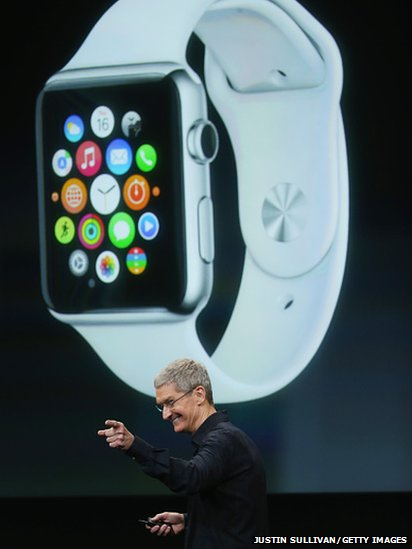 Tim Cook introducing the Apple Watch