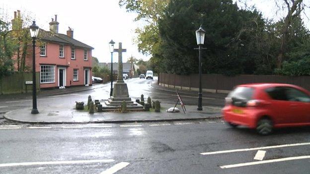 War memorial in Thorpe-le-Soken, Essex