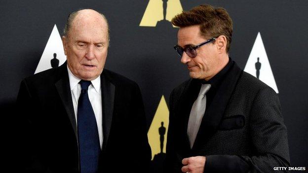 Robert Duvall and Robert Downey Jr