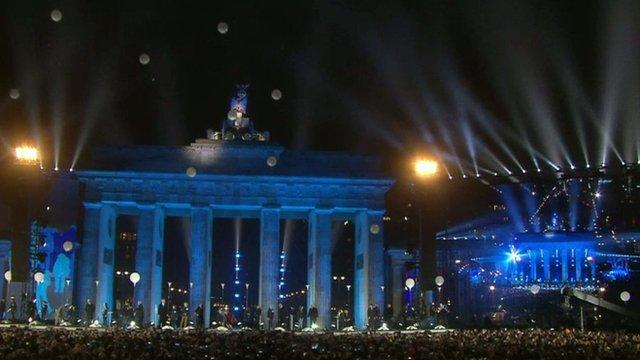 Balloons released in Berlin