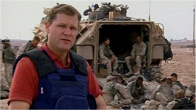 Paul Wood with US troops outside Falluja (09/11/14)