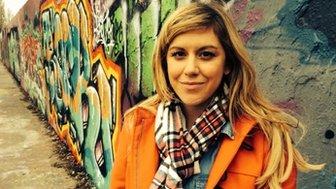 BBC reporter Jenny Lawrence in Berlin