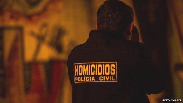 Brazil murder scene