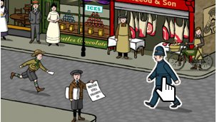 An illustrated high street