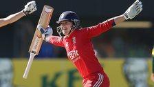 England's Sarah Taylor celebrates