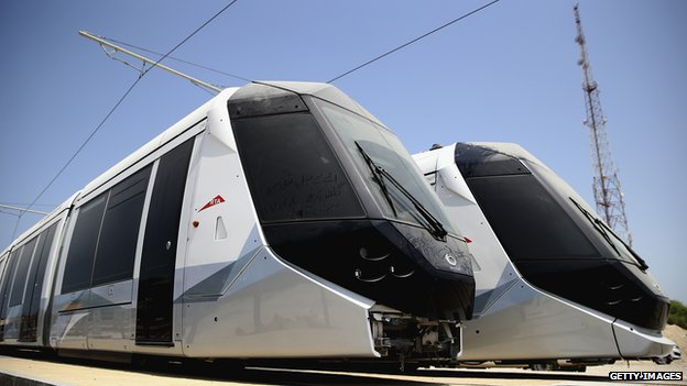 Dubai's new tram cars