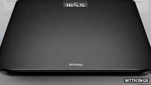 black wireless scales by Withtings