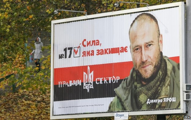Dmitry Yarosh campaign poster (24 Oct)