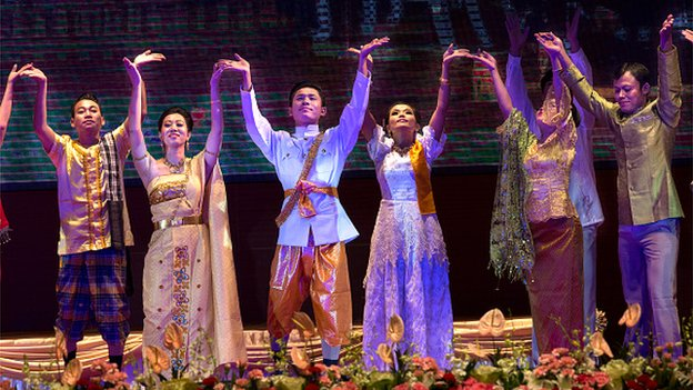 A cultural performance at the Opening Ceremony of the ASEAN summit on November 12, 2014 in Naypyidaw, Myanmar