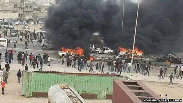 Scene of bombing in Tobruk
