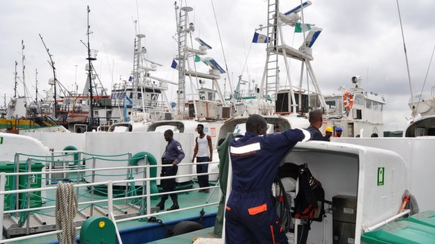 Ships in Lagos, Nigeria