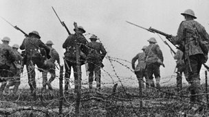 Irish soldiers during World War One
