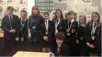 Alice Levine with School Reporters from Tendring Technology College