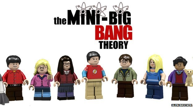 Lego characters from The Big Bang Theory