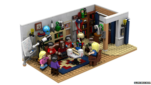 A Lego set modelled on The Big Bang Theory