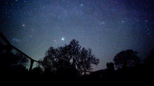 The night sky in Sark