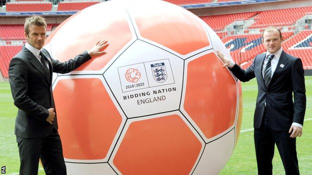 David Beckham and Wayne Rooney backed England's bid