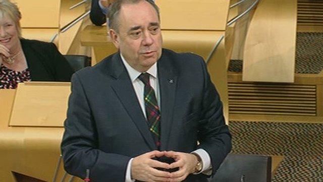 First Minister Alex Salmond.
