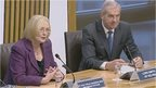 Presiding Officer Tricia Marwick and Lord Smith of Kelvin.