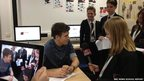 Greg James is interviewed by School Reporters from Tendring Technology College