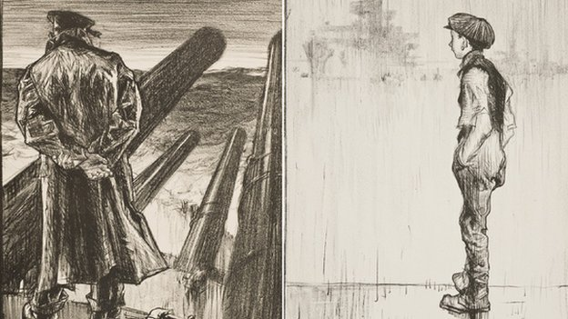 Sketches by Welsh artist Frank Brangwyn