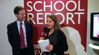 Deputy PM Nick Clegg with BBC School Reporter