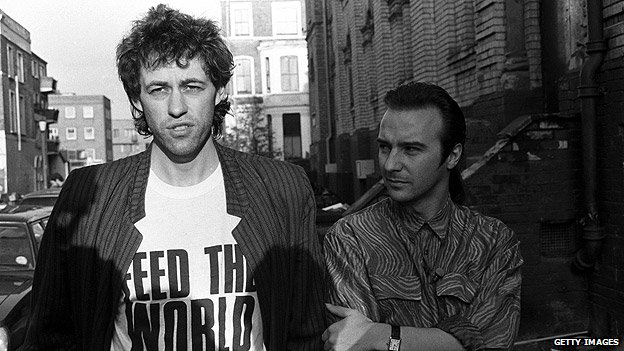 Bob Geldof and Midge Ure in 1984