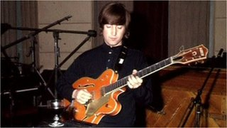 BBC News - John Lennon's Beatles guitar expected to fetch $1m at action