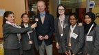 School Reporters with CEO of Children In Need