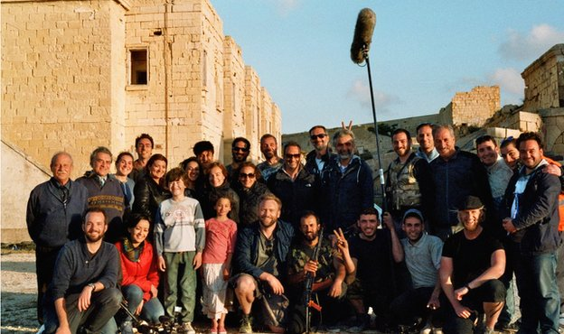 Film crew in Malta