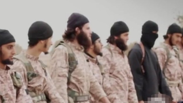 An image grab taken from an Islamic State propaganda video released on 16 November 2014