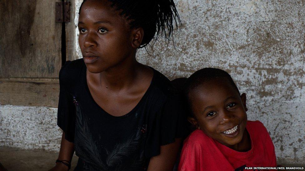 Miatta, 16, and her brother Musa, five