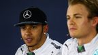 Mercedes AMG F1 drivers Lewis Hamilton and Nico Rosberg