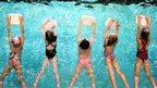 Five children swimming
