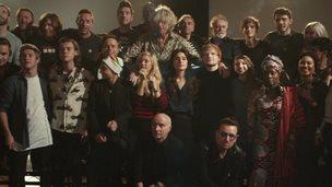 Band Aid 30 group photo