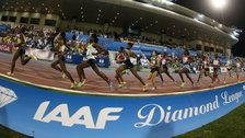 Athletes compete at the Diamond League in Doha