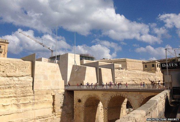 The City Gate in Valletta (c) Architecture Project