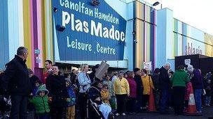 Plas Madoc protest