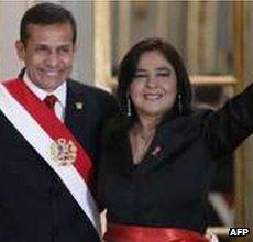 Ana Jara and Ollanta Humala
